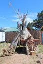 Cheyenne frontier days tipi a outside of indian village at in wyoming Royalty Free Stock Photos