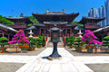 Chi lin buddhist nunnery in hong kong Stock Image