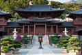 Chi Lin Nunnery, Hong Kong. Royalty Free Stock Images
