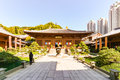 stock image of  The Chi Lin Nunnery at Kowloon