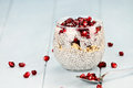 Chia Seed and Pomegranate Parfait Royalty Free Stock Photo