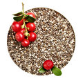Chia seeds closeup Royalty Free Stock Photo
