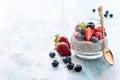 Chia seeds pudding