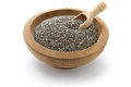 Chia seeds with scoop Royalty Free Stock Photo