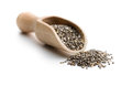 Chia seeds in scoop Royalty Free Stock Photo