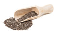 Chia seeds in a wooden scoop Royalty Free Stock Photo