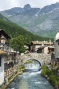 Chianale italian alps cuneo val varaita piedmont italy old typical mountain village in the at summer Royalty Free Stock Photos