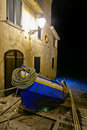 Chianalea the boat away. Royalty Free Stock Photos