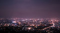Chiang mai city view at nigh thailand Stock Photo