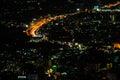 Chiang mai city view at nigh thailand Royalty Free Stock Photos