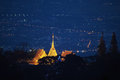 Chiang Mai night light landscape from Doi Suthep , Thailand. Royalty Free Stock Photo