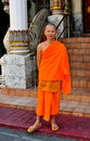 Chiang Mai, TH: Monk at Wat Chomphu Stock Images