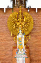 CHIANG MAI, THAILAND - APR 6: Goddess of mercy Guan yin statue a Stock Photography