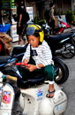 Chiang Mai, Thailand: Little Boy on Motorcycle Stock Image