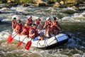 White water rafting on the rapids of river Maetang in Chiang Mai, Thailand. Maetang river is Royalty Free Stock Photo