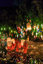 Chiang mai thailand november loy krathong festival at wat pan tao in province of Royalty Free Stock Images