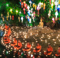 Chiang mai thailand november loy krathong festival at wat pan tao in province of Stock Images