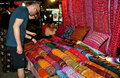Chiang Mai, Thailand: Tourists Shopping at Festival Stock Image