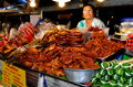 Chiang Mai, Thailand: Woman Selling Food Royalty Free Stock Photos