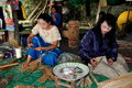Chiang Mai, Thailand: Women Making Parasols Stock Photography