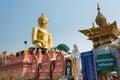 Chiang Rai, Thailand. - Mar 1 2015: Budda Statues at Golden Tria Royalty Free Stock Photo