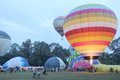 Chiangmai thailand december people come to watch the release of balloons to the sky at international balloon festival in Stock Images
