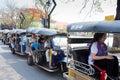 CHIANGMAI, THAILAND - MAY 8 2016: TUKTUK taxi chiangmai, Service Royalty Free Stock Photo