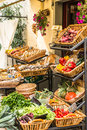 Chianti market italy september typical fruit and vegetable traditional in toscana september Stock Image