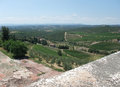 Chianti in tuscany scenery around gaiole seen from castle of brolio the region of central italy Royalty Free Stock Photography