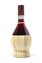 Chianti wine on white background Royalty Free Stock Image