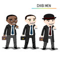 Chibi businessman vector this is file of eps format Stock Photos