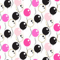 Chic glamour party balloons seamless pattern.