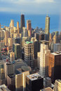 Chicago aerial view Stock Photography