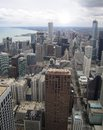 Chicago aerial view Royalty Free Stock Photos