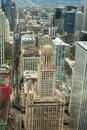 Chicago aerial view of chicago downtown city Stock Photography