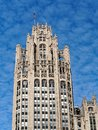 Chicago Architecture, Gothic Revival Tribune Tower Royalty Free Stock Photo