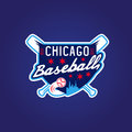 Chicago baseball vintage sport coat of arms , vector Royalty Free Stock Photo