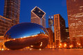 Chicago and the Bean Royalty Free Stock Photo