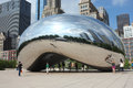 Chicago bean in millennium park Stock Image