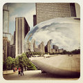 Chicago bean in millennium park Stock Photos