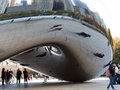 Chicago bean reflection Royalty Free Stock Photo