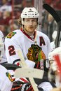 Chicago blackhawks defenseman duncan keith during the nhl game Stock Photography