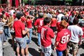Chicago blackhawks fans june celebrate stanley s cup win on june in million people celebrated the trophy in Stock Photo