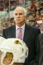 Chicago blackhawks head coach joel quenneville during the nhl game Stock Image