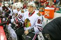 Chicago blackhawks right wing marian hossa during the nhl game Stock Image