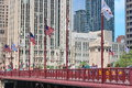 Chicago bridge view in downtown Royalty Free Stock Photo