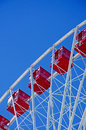 Chicago: cabins of Ferris Wheel at Navy Pier Royalty Free Stock Photo