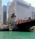 Chicago Canal Lift Bridge Royalty Free Stock Photos