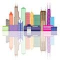 Chicago City Skyline Color Vec...