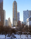 Chicago cityscape with chicago water tower winter view of the historic dwarfed by more recent modern skyscrapers the built in is Royalty Free Stock Photography